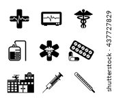 hospital   healthcare icon set