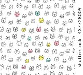 seamless pattern with cute... | Shutterstock .eps vector #437728009