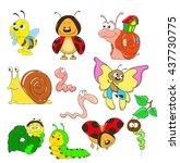 cartoon collection of...   Shutterstock .eps vector #437730775