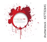 set of various blood or paint... | Shutterstock .eps vector #437732641