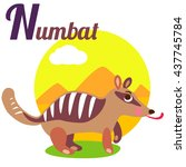 cute animal alphabet for abc... | Shutterstock . vector #437745784