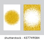 gold sparkles on white... | Shutterstock .eps vector #437749084