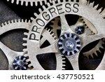 macro photo of tooth wheel...   Shutterstock . vector #437750521