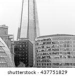 new building in london... | Shutterstock . vector #437751829
