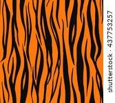 illustration of tiger print... | Shutterstock . vector #437753257
