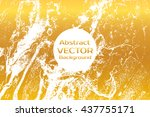 golden abstract painted marble... | Shutterstock .eps vector #437755171