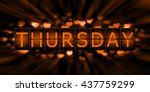 thursday background with heart | Shutterstock . vector #437759299