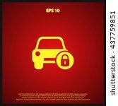 car security icon   Shutterstock .eps vector #437759851
