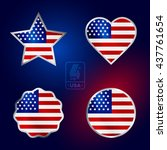 happy fourth of july. vector... | Shutterstock .eps vector #437761654