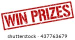 win prizes stamp.stamp.sign.win.... | Shutterstock .eps vector #437763679