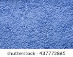 Blue Towel . Blue Terrycloth .