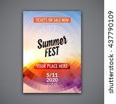 summer festival flyer design... | Shutterstock .eps vector #437790109