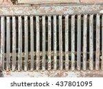 crack grunge concrete texture... | Shutterstock . vector #437801095