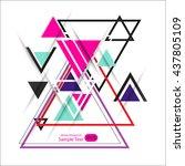 abstract geometric vector... | Shutterstock .eps vector #437805109