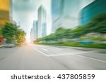 blur abstract city background | Shutterstock . vector #437805859