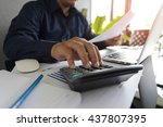 man analysis business accounting   Shutterstock . vector #437807395