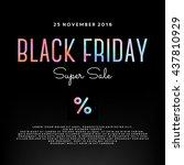 black friday sale illustration | Shutterstock .eps vector #437810929