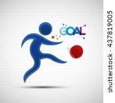 football championship banner.... | Shutterstock .eps vector #437819005
