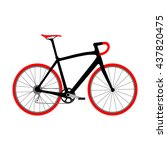 illustration of bicycle | Shutterstock . vector #437820475