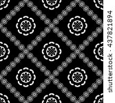 abstract black and white... | Shutterstock .eps vector #437821894