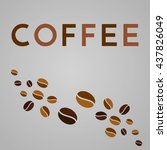 abstract coffee background.... | Shutterstock .eps vector #437826049
