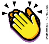 vector clapping hands isolated... | Shutterstock .eps vector #437833201