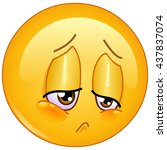 sorrow and sad emoticon | Shutterstock .eps vector #437837074