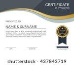 vector certificate template. | Shutterstock .eps vector #437843719