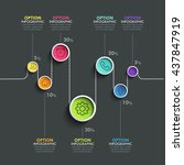 business circle timeline banner.... | Shutterstock .eps vector #437847919