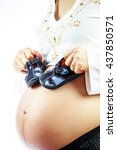 Pregnant Woman With Cute  Smal...