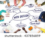 web design ideas creativity... | Shutterstock . vector #437856859
