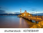 floating mosque islamic muslim... | Shutterstock . vector #437858449