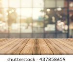 wooden board empty table in... | Shutterstock . vector #437858659