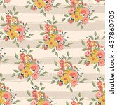 floral seamless pattern on... | Shutterstock .eps vector #437860705