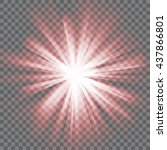 red glowing light. bright...   Shutterstock .eps vector #437866801