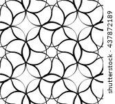 floral line seamless pattern.... | Shutterstock .eps vector #437872189
