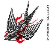 swallow on fire | Shutterstock .eps vector #437882155