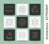 sacred geometry. set of minimal ... | Shutterstock .eps vector #437902849