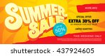 summer sale template banner | Shutterstock .eps vector #437924605