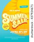 summer sale template banner | Shutterstock .eps vector #437924671