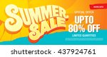 summer sale template banner | Shutterstock .eps vector #437924761
