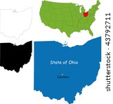 state of ohio  usa   Shutterstock .eps vector #43792711