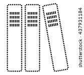 row of binders  office folders... | Shutterstock .eps vector #437931184