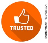 trusted vector icon  orange... | Shutterstock .eps vector #437931364