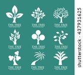 tree vector logos | Shutterstock .eps vector #437931625