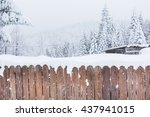 Rural Winter Scene. Snow...