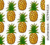 seamless pattern made from hand ... | Shutterstock .eps vector #437944114