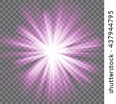purple glowing light. bright... | Shutterstock .eps vector #437944795