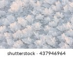 closeup of large snow flakes or ... | Shutterstock . vector #437946964