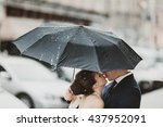 Rain Falls On The Umbrella...